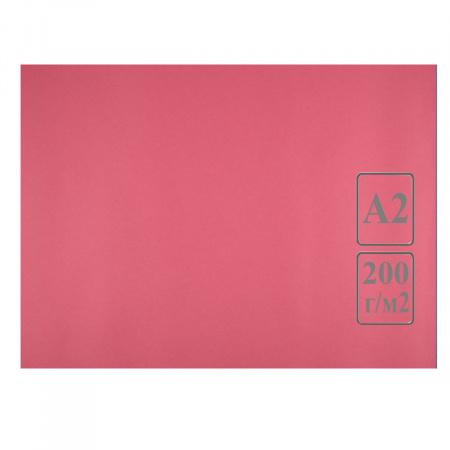 Ватман цвет тонир А2 420*594 200г/м Лилия Холдинг (50л) красный/розовый