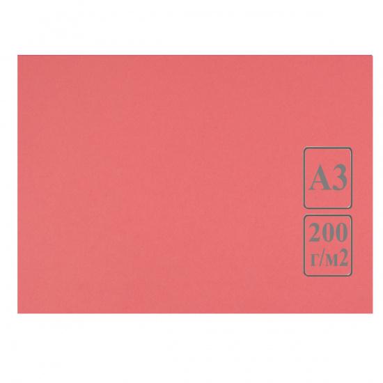 Ватман   тонированный, А3 (297*420мм), 200г/кв.м., 50л, красно-розовый Лилия Холдинг КЦА3роз.