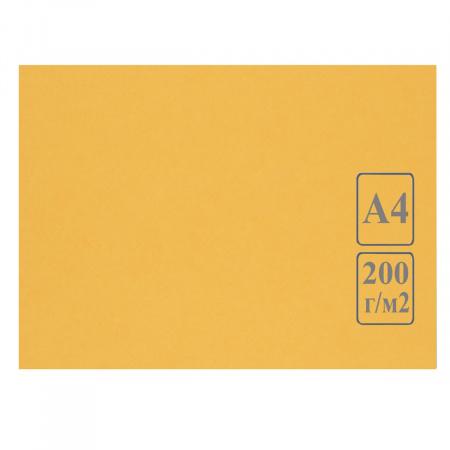 Ватман   тонированный, А4 (210*297мм), 200г/кв.м., 50л, желтый Лилия Холдинг КЦА4жел.