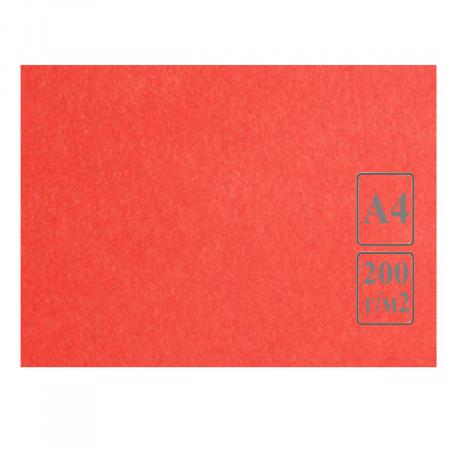 Ватман цвет тонир А4 210*297 200г/м Лилия Холдинг (50л) красный/розов