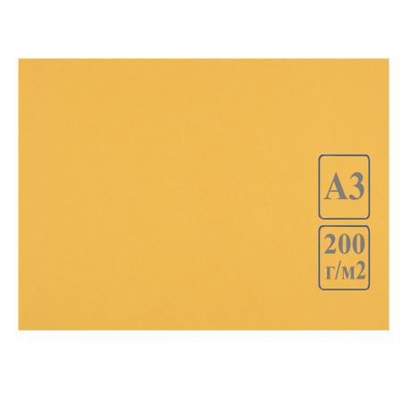 Ватман цвет тонир А3 297*420 200г/м Лилия Холдинг (50л) желтый