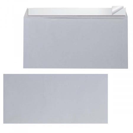 Конверт 110*220 евро силиконовая лента чистый EPE65S00CL/П-1120/DLHK C