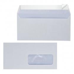 Конверт 110*220 евро силиконовая лента чистый правое окно внутренняя запечатка П-1101/ТК-102/DLHKCOP/DLНКС_Оз_Б