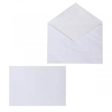 Конверт 162*229 С5 декстрин чистый треугольный клапан (в точку) С5НКТр