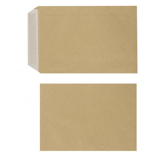 Конверты почтовые 162*229мм (С5), чистый, крафт, клей силиконовая лента Ряжская печатная фабрика ОАО 357707