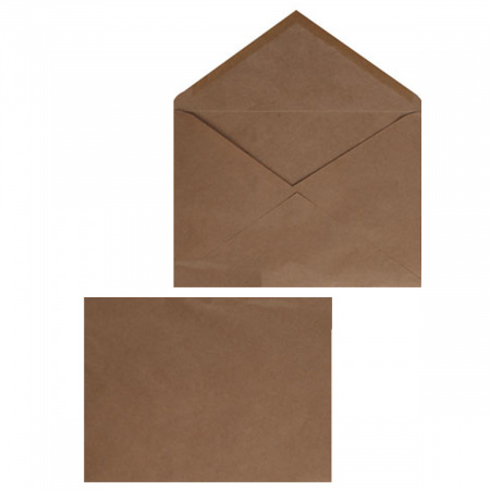 Конверты почтовые 162*229мм (С5), чистый, крафт, клей декстрин Ряжская печатная фабрика ОАО С5Крафт