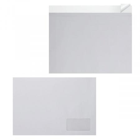 Конверт 229*324 С4 силиконовая лента чистый правое окно С4-2001/С4_НКСО_Б