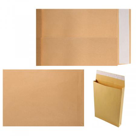 Конверты почтовые 280*400*40мм, чистый, крафт, клей силиконовая лента 95224
