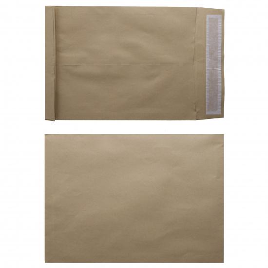 Конверты почтовые 300*400мм (Е4), чистый, крафт, клей силиконовая лента Ряжская печатная фабрика ОАО 301130