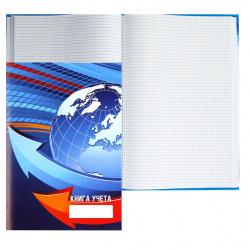 Книга учета 80л А4 (205*300) клетка офсет твердая обложка картон ламинированный Российский флаг 80-3852