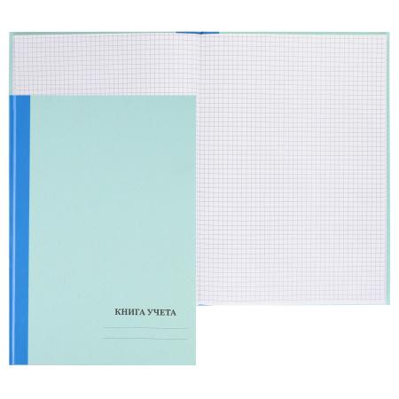 Книга учета 100л А4 (210*297) клетка офсет твердая обложка зеленая