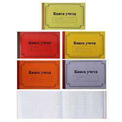 Книга учета 100л А4 (190*295) клетка офсет твердая обложка картон ламинированный ТБ-100 горизонтальная