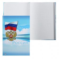 Книга учета 196л А4 (205*300) клетка офсет твердая обложка картон ламинированный Россия 196-7157