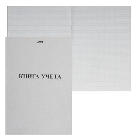 Книга учета канцелярская 48л А4 (205*295) пустогравка офсет обложка мелованный картон 48Т4В5