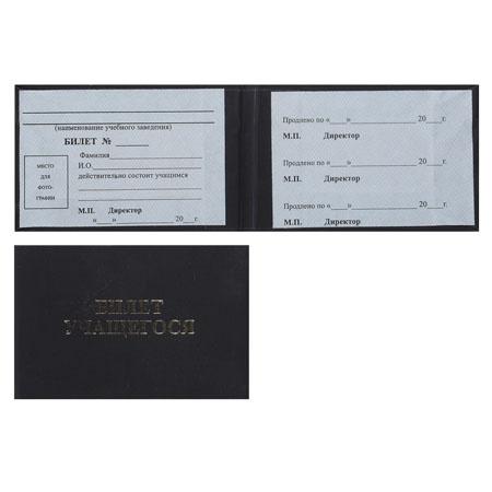 Билет учащегося, А7, горизонтальный, твердый картон 7Бц Имидж БУ-203