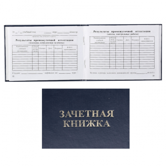 Зачетная книжка Техникум, А6, горизонтальный, 105*135мм, твердый картон 7Бц Имидж ЗКТ-203