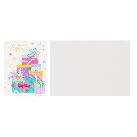 Открытка 55*79мм, текст Всегда будьте счастливы Мир открыток 2-70-1677А