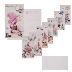 Открытка 120*215 Цветы с конвертом выб лак блест КОКОС Y223/S57-(01-08) ассорти 8 видов