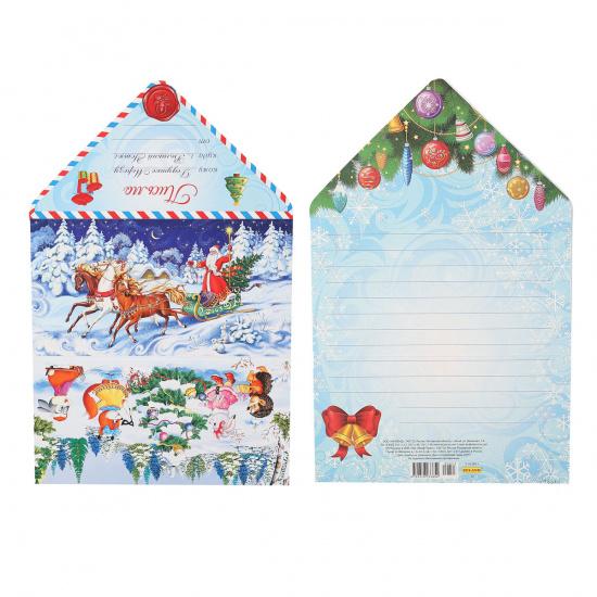 Открытка 100*190мм, лакирование выборочное, блестки Письмо Деду Морозу Миленд 5-10-0873