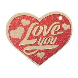 Открытка 59*67 Love you! тисн фольг подвеска Мир открыток 2-98-14071А