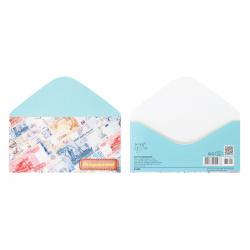 Открытка-конверт для денег 85*165 Поздравляем! глянц лам Русский дизайн 43404