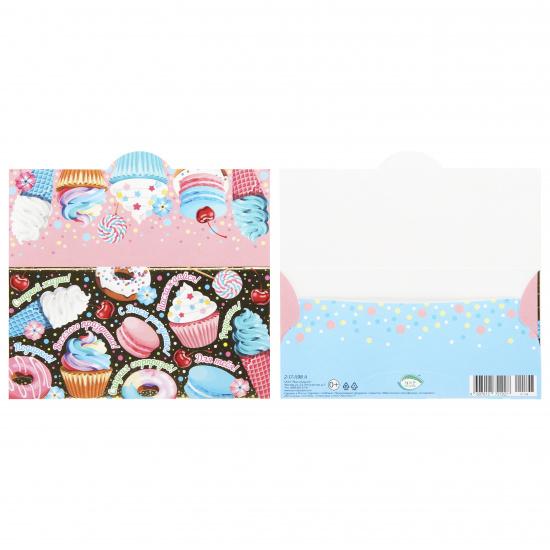 Открытка-конверт для денег 85*165мм С Днем Рождения! Мир открыток 2-17-1198А