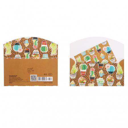 Открытка-конверт для денег 85*165 Без названия тисн фольг Русский дизайн 38127
