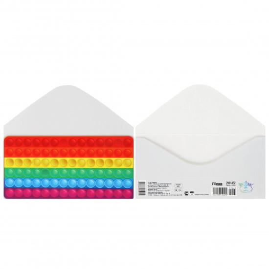 Открытка-конверт для денег 85*165мм Без названия Праздник 2901462