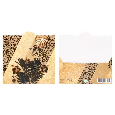 Открытка-конверт для денег 85*165 Без названия тисн фольг Мир открыток 2-17-1036А