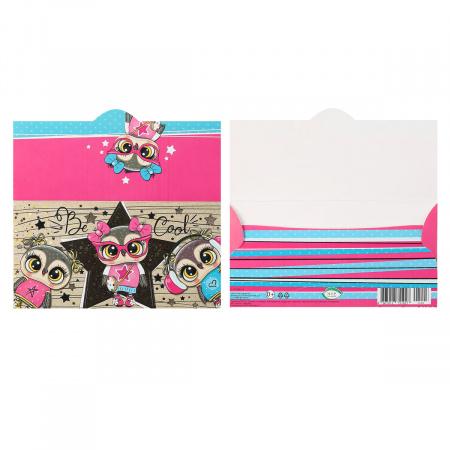Открытка-конверт для денег 85*165 Без названия тисн фольг Мир открыток 2-17-1003