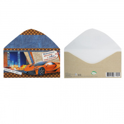 Открытка-конверт для денег 85*165 Без названия глянц лам Мир открыток 4-15-475А
