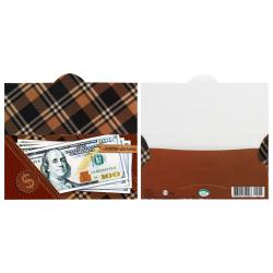 Открытка-конверт для денег 85*165 Без названия глянц лам Мир открыток 4-15-481А