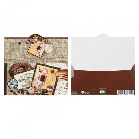 Открытка-конверт для денег 85*165 Без названия тисн фольг апплик Мир открыток 2-20-012