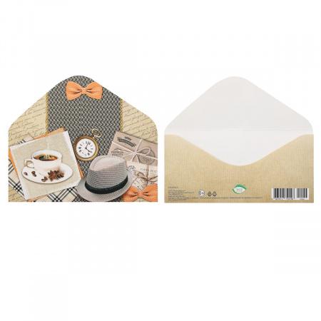 Открытка-конверт для денег 85*165мм, лакирование выборочное, блестки, текст Без названия Мир открыток 2-16-2044А