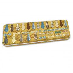 Открытка-конверт для денег 76*166 Галстуки и бабочки металл Феникс-Презент 43672