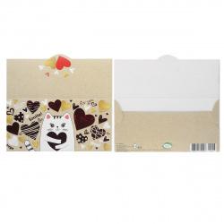 Открытка-конверт для денег 85*165 Love тисн фольг Мир открыток 2-17-14013А