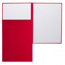 Папка адресная без тиснения, А4, бумвинил, цвет красный Имидж 4000-201