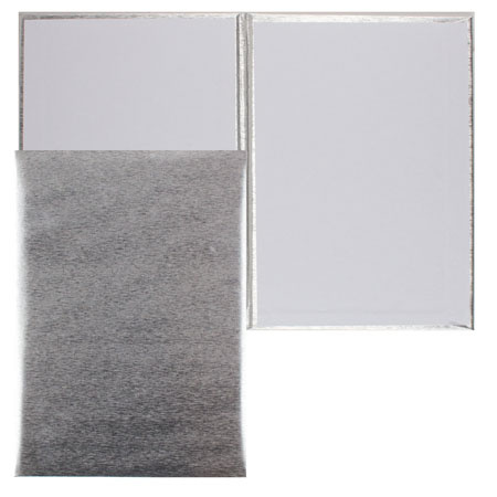 Папка адресная без тиснения А4 балакрон шелк Имидж 4000-102 серебро
