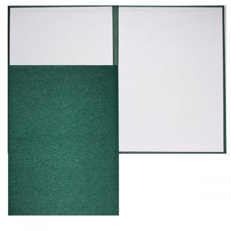 Папка адресная без тиснения А4 балакрон шелк Имидж 4000-105 зелен