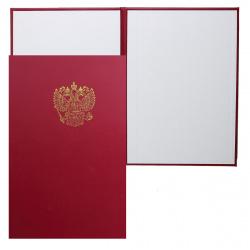 Папка адресная с российским орлом А4 б/в Имидж 4002-210/4002-209 бордо