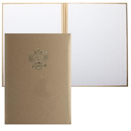 Папка адресная с российским орлом А4 балакрон шелк Имидж 4002-101 золото