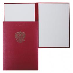 Папка адресная с российским орлом А4 балакрон шелк Имидж 4002-103 красн