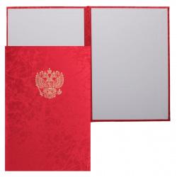 Папка адресная с российским орлом А4 балакрон паутинка Имидж 4002-140 красная