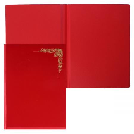 Папка адресная фольгой, А4, ПВХ, фактура глянец, цвет красный ДПС 2032.О-1002