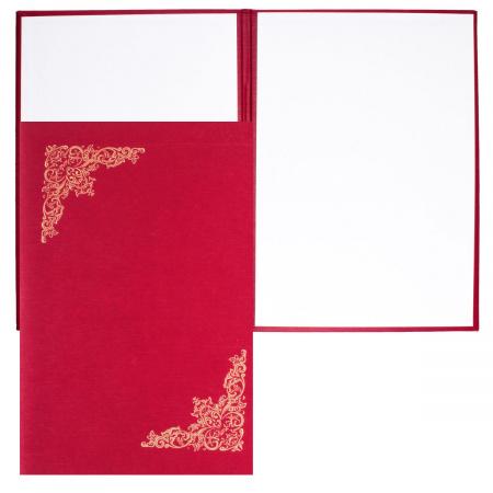 Папка адресная фольгой, А4, балакрон, фактура шелк, цвет красный Имидж 4001-103