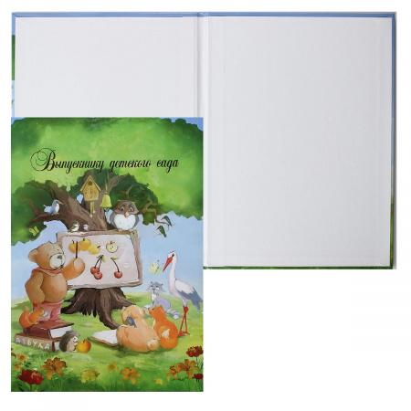 Папка адресная Выпускнику детского фольгой, А4, ламинированный картон, цвет рисунок Лесная Школа Имидж 4024-23