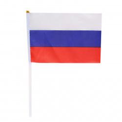 Настольный флаг России полиэфир 14*20см с флагштоком KLERK 183168/Y541_1