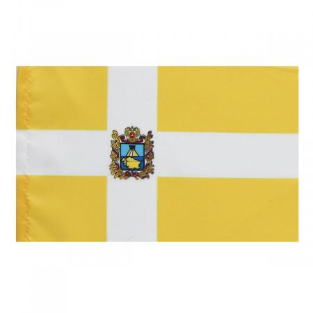 Флаг Ставропольского края, 150*220мм, полиэфир, для помещений и улицы, без подставки и флагштока