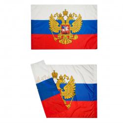 Флаг России полиэфир 0,9*1,35м с орлом для помещений, улицы