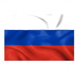 Флаг России мокрый шелк 0,9*1,35м для помещений